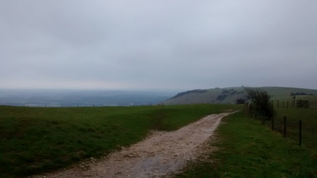 One of the less sunny summits I've made on the Ditchling Beacon. We didn't stop for long for fear of the Chill Monster getting us.